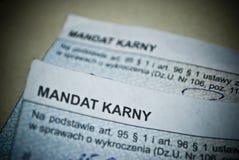 Το εισιτήριο για την κυκλοφορία κυβερνά την παραβίαση Στοκ φωτογραφίες με δικαίωμα ελεύθερης χρήσης