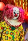 Страшная сторона куклы клоуна Стоковое Изображение RF