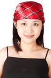 亚洲女孩甜点 免版税库存图片