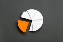 关闭企业圆形统计图表 库存图片
