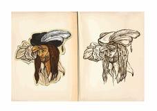 Βιβλίο χρωματισμού παιδιών - ναυτικός Στοκ εικόνες με δικαίωμα ελεύθερης χρήσης