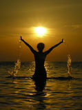 γυναίκα ύδατος ανατολής Στοκ Εικόνα