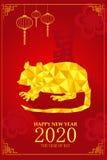 Китайский дизайн Нового Года на год крысы Стоковые Изображения RF