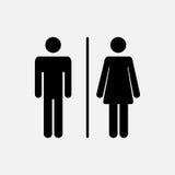 Мужской и женский значок Стоковые Изображения