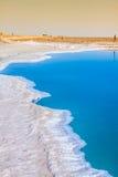 杰里德大盐湖,盐湖在突尼斯 免版税库存图片