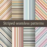 Ριγωτά άνευ ραφής σχέδια που τίθενται στα αναδρομικά χρώματα Στοκ εικόνες με δικαίωμα ελεύθερης χρήσης