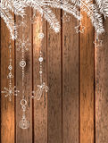 美好的假日设计的自然装饰 免版税库存图片