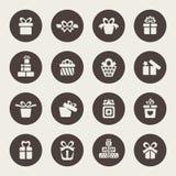 Σύνολο εικονιδίων δώρων Στοκ φωτογραφίες με δικαίωμα ελεύθερης χρήσης