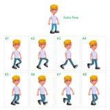男孩走的动画 免版税库存照片