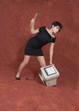 计算机愤怒 免版税图库摄影