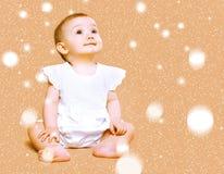 逗人喜爱的婴孩一点 免版税图库摄影