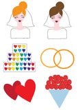 Λεσβιακός γάμος εικονιδίων Στοκ Εικόνες