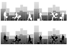 生意人繁忙的城市 图库摄影