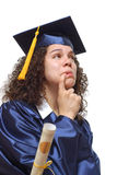 毕业生担心 库存照片
