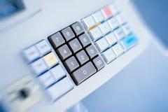 详述的收款机按钮 免版税库存照片