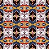 Картина безшовной геометрии винтажная, этнический стиль Стоковая Фотография