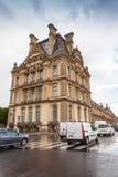 巴黎,法国,罗浮宫门面  免版税图库摄影