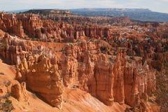从日出点的看法俯视,布莱斯峡谷国家公园,犹他,美国 免版税库存照片