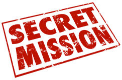 秘密使命红色邮票措辞任务工作任务 库存图片