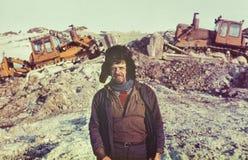 Портрет молодого советского золото-старателя Стоковое Изображение RF