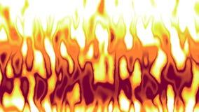 红色绿松石的详细的动画在火发火焰 免版税库存照片