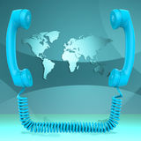 Η διεθνής κλήση αντιπροσωπεύει τη συνομιλία και τη γη παγκοσμιοποίησης Στοκ Φωτογραφίες
