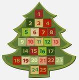 出现日历动画片圣诞节要素图标计时多种 免版税库存图片