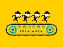Επίπεδο σχέδιο της εργασίας ομάδων επιχειρηματιών Στοκ Εικόνες