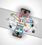 配合和激发灵感的理想的工作区 免版税库存图片