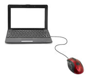 计算机老鼠和笔记本 免版税图库摄影