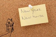 新的贴纸新房 免版税图库摄影
