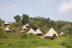 Деревня коренного народа, Центральная Америка Стоковые Фото
