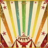Φανταστικό τετραγωνικό υπόβαθρο τσίρκων χρώματος Στοκ Φωτογραφίες