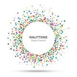 五颜六色的抽象半音商标设计元素 库存照片