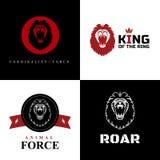 狮子商标图形设计 库存图片