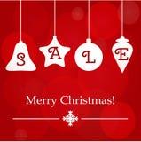Διακόσμηση πώλησης Χριστουγέννων Διανυσματικό πρότυπο διακοπών Στοκ Εικόνα