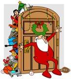 圣诞老人的充分的壁橱 免版税库存照片