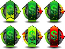 Доллар кнопки Стоковые Фотографии RF