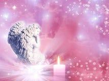 белизна ангела изолированная рождеством Стоковые Фотографии RF
