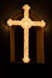 在复活节的十字架 免版税库存图片