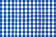 蓝色布料详细野餐 免版税库存照片