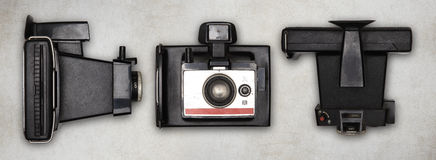 老偏正片照片照相机 免版税库存图片
