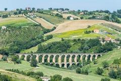 Ландшафт лета в мартах (Италия) Стоковые Фотографии RF