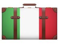 旅行的经典葡萄酒行李手提箱 图库摄影