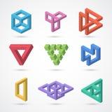五颜六色的不可能的形状 传染媒介元素 免版税库存照片