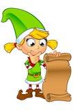 女孩矮子字符以绿色 免版税库存图片