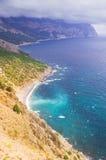 Горы и море Стоковая Фотография