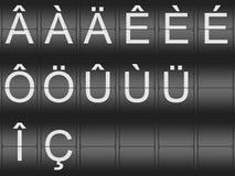 元音变音和口音信件的汇集 免版税图库摄影