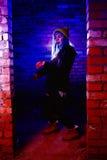 Портрет смешной девушки зомби во времени хеллоуина Стоковое фото RF
