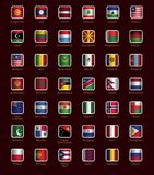 Комплект кнопок с флагами Стоковое Изображение